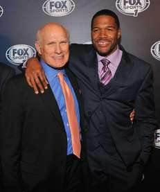 Terry Bradshaw and Michael Strahan attend the 2013