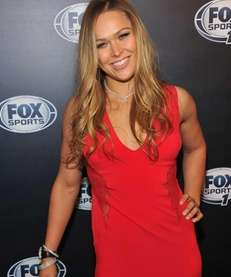 UFC women's bantamweight champion Ronda Rousey attends the