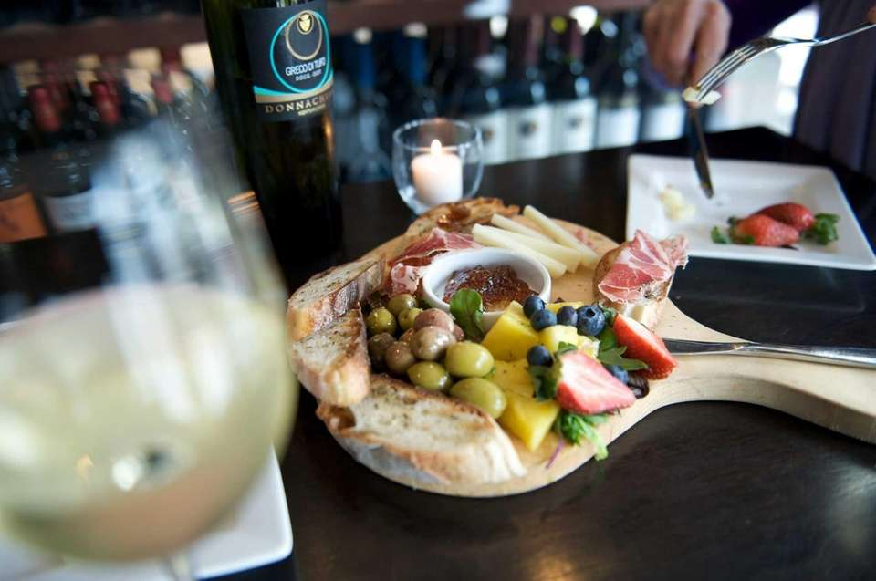 Molto Vino's serves a cured meat and cheese