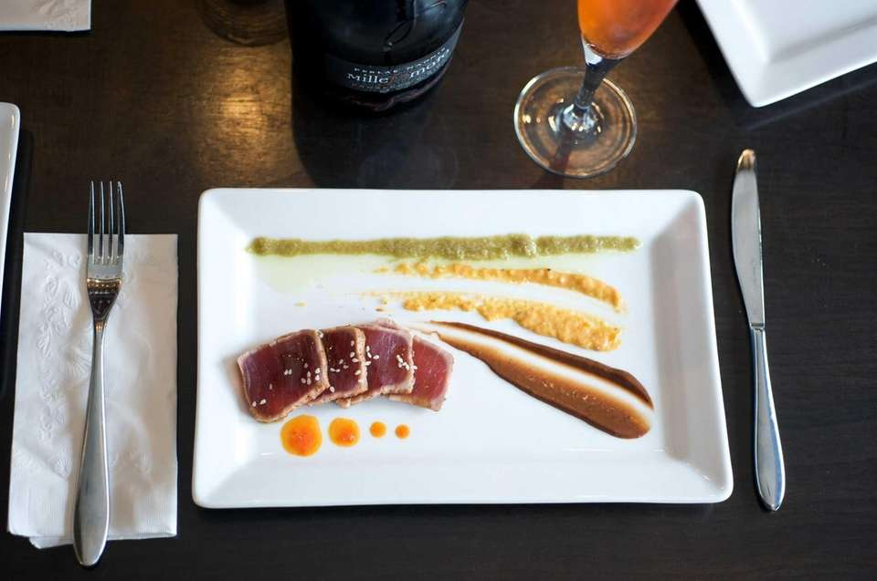 Molto Vino serves a small plate of tuna