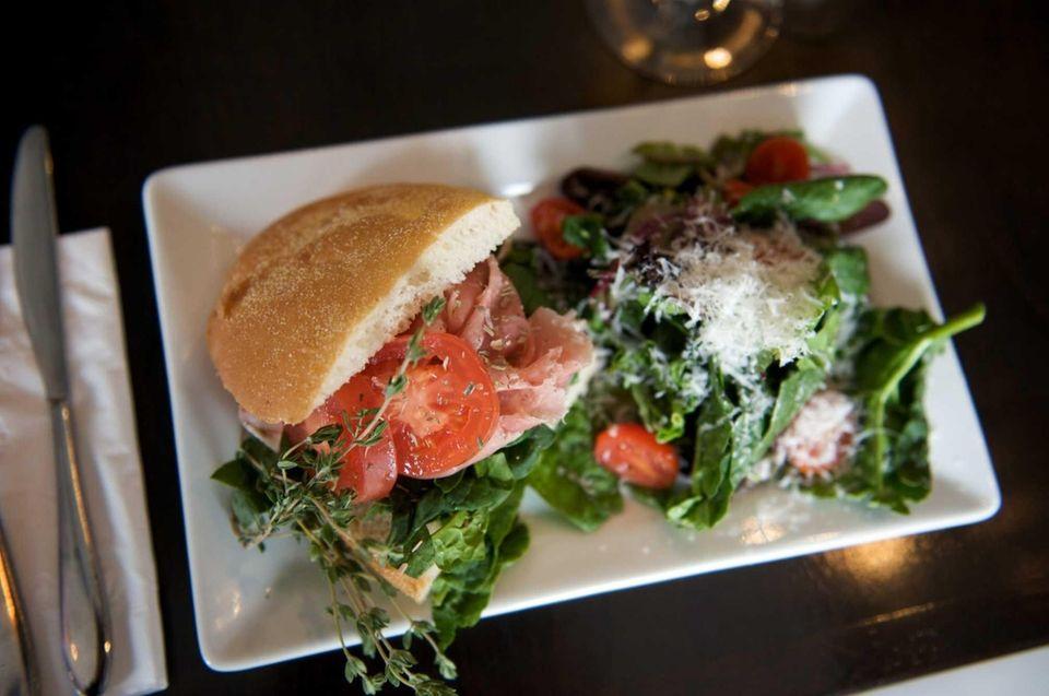Molto Vino's Molto BLT, a panini prepared with