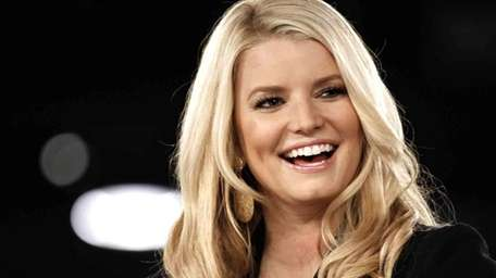 Singer and fashion mogul Jessica Simpson slipped and