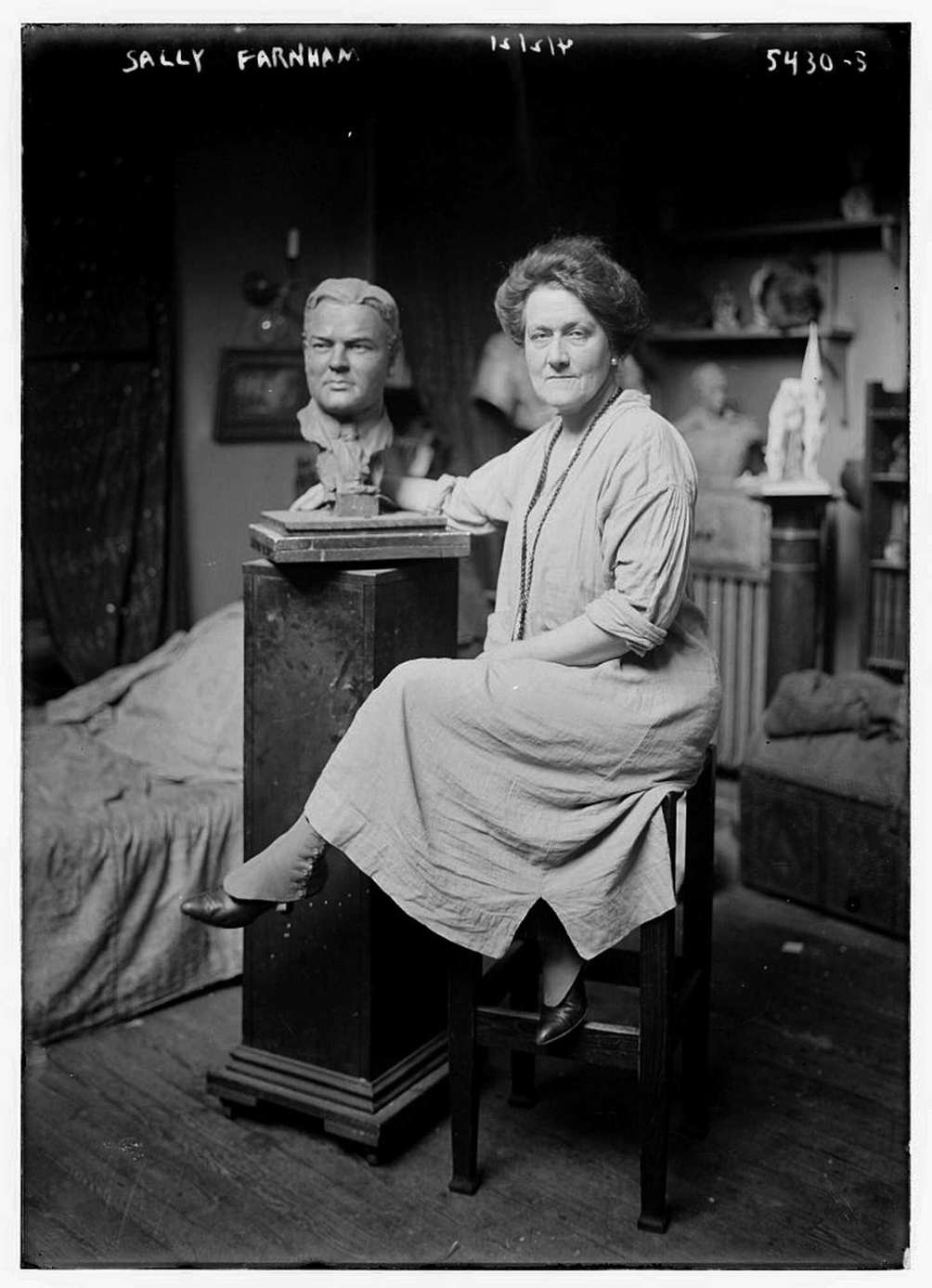 Sally James Farnham (1869-1943) was a sculptor who