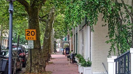Love Lane in Mattituck, where median home prices