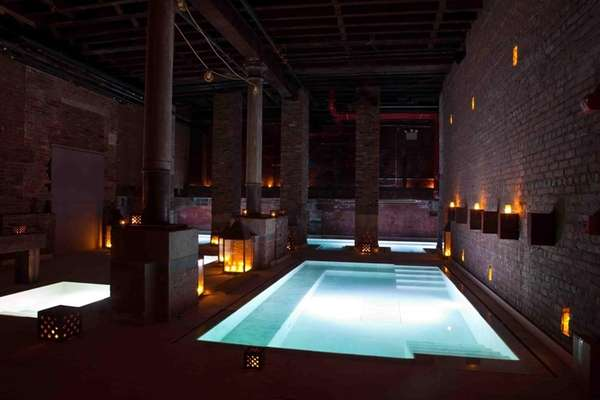 Aire Ancient Baths in TriBeCa offers different pools