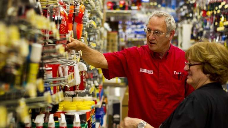 Bruce Carlow, co-owner of Trio Hardware in Plainview,