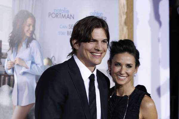 Ashton Kutcher and Demi Moore arrive at the