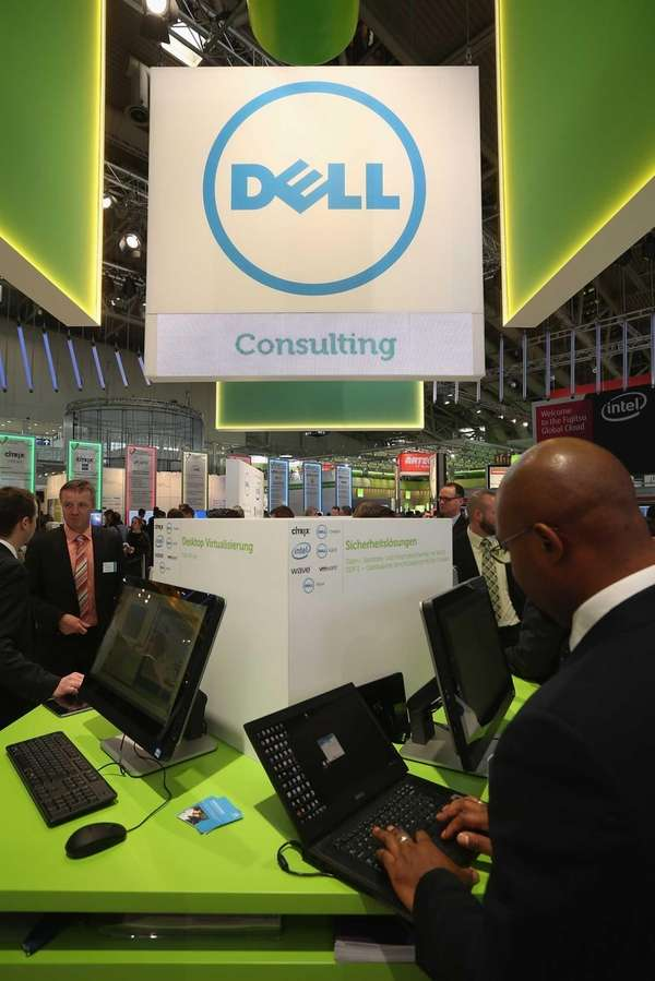 Dell showed its latest laptop at a trade