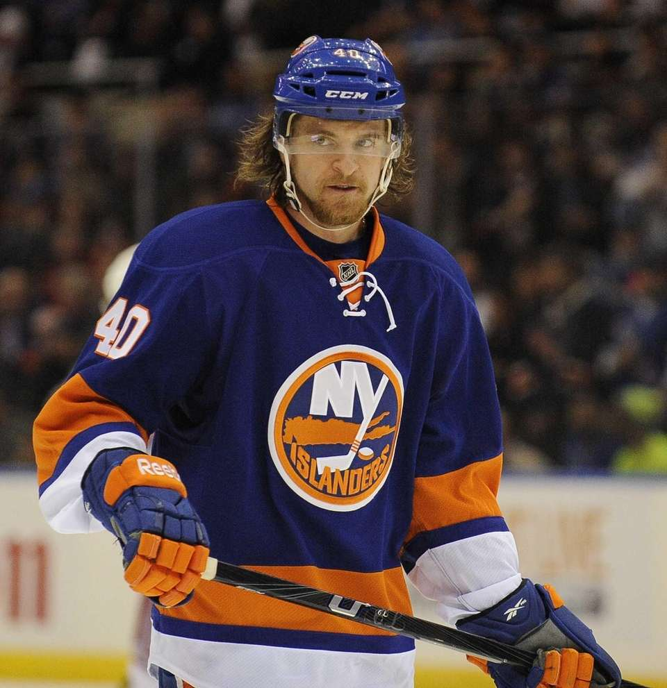 Michael Grabner of the Islanders skates against the