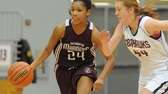 Southampton senior Paris Hodges, left, looks to dribble