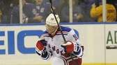 Marian Gaborik of the Rangers reacts after scoring