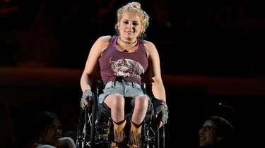 Ali Stroker, seen performing a song from the