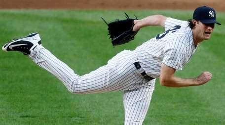 Yankees pitcher Gerrit Cole against the Phillies at