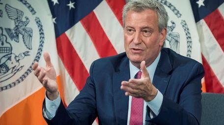 Mayor Bill de Blasio, seen on July 22,
