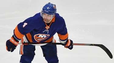 Islanders defenseman Andy Greene skates during an NHL