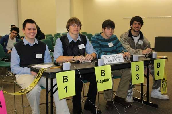 Farmingdale High School's second-place Bay Scallop Bowl team,