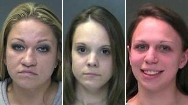 Ashley Jimenez, left, 26, of Ridge, Justine Rittman,