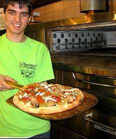 Jay Astafa and his award winning vegan pizza
