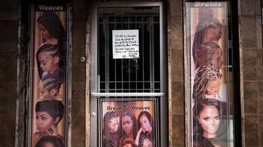The Sogho Express African Hair Braiding salon, seen
