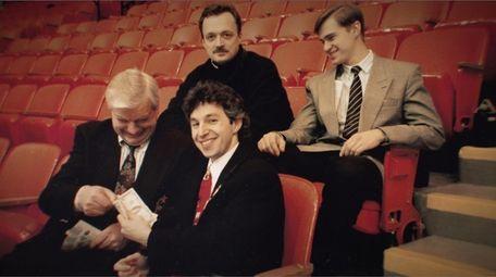 Steven Warshaw, bottom row, right, in a scene