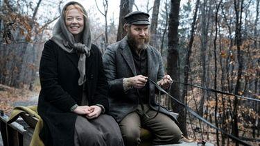 Sarah Snook as Sarah Greenbaum and Seth Rogen