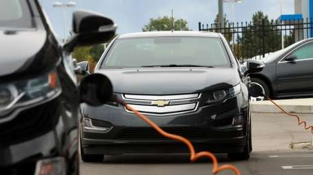 Chevrolet Volt owners charge their Volt electric vehicles