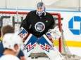 Alexandar Georgiev in net at Rangers training camp