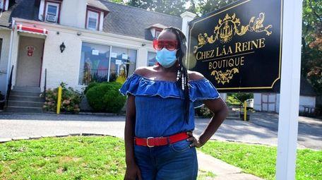 Rhonda Gooden outside her women's boutique, Chez Lãa