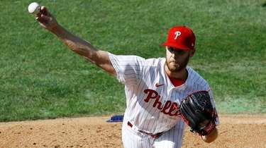 Phillies' Zack Wheeler pitches Thursday during the first