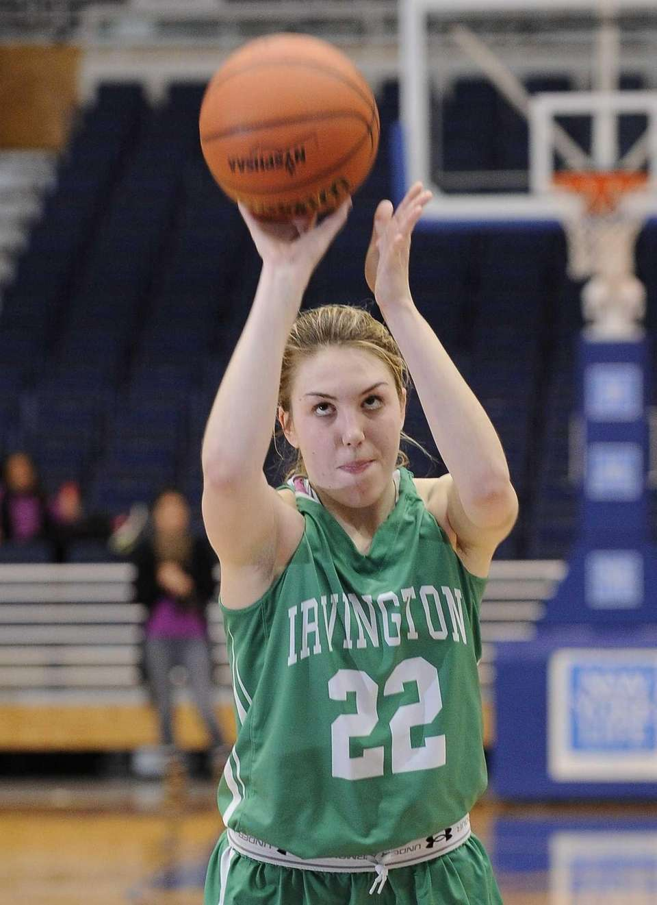 Irvington's Lexi Martins shoots a free throw against