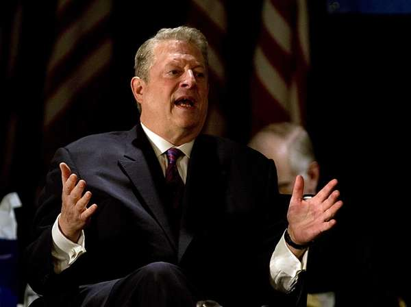 Former vice president Al Gore takes questions from