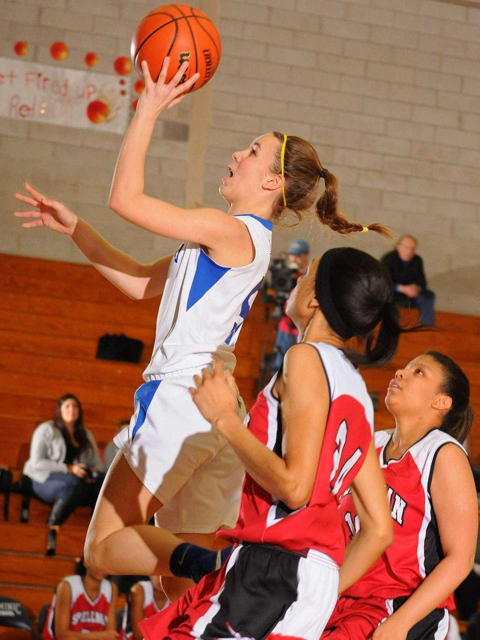 Kellenberg's Stacy Madelmayer drives to the basket for