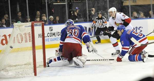 Jakob Silfverberg of the Senators scores the game-winning