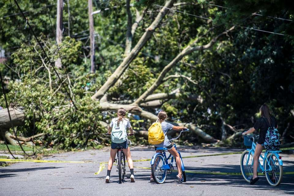 Damage on Cornelius St. in Wantagh where Supervisor