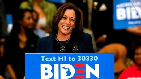 California Sen. Kamala Harris endorses former Vice President