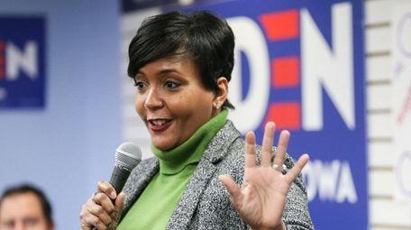 Atlanta Mayor Keisha Lance Bottoms speaks in Cedar