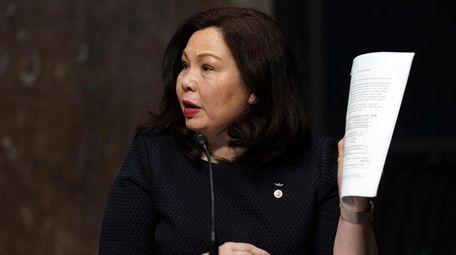 Illinois Sen. Tammy Duckworth speaks on Capitol Hill