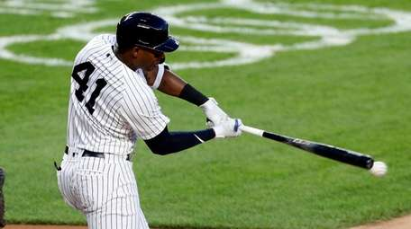 Miguel Andujar of the New York Yankees against