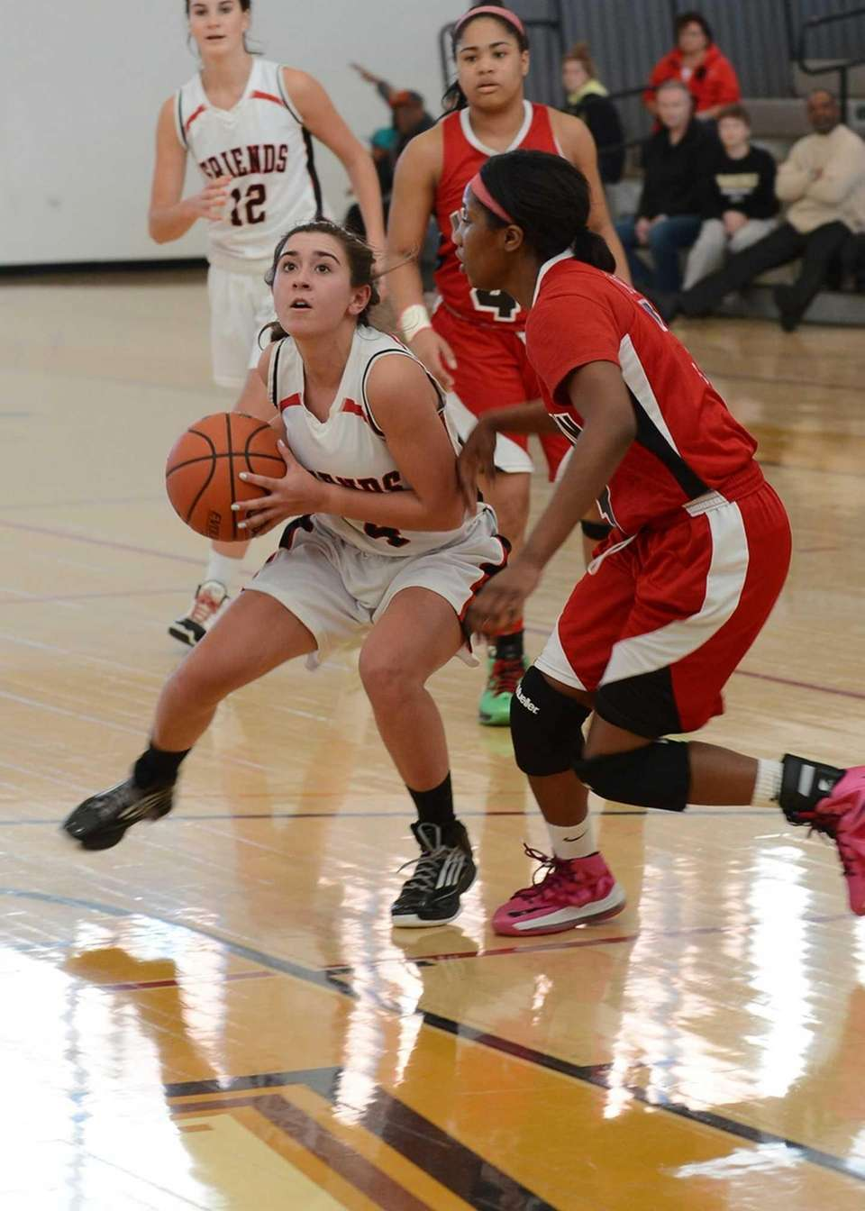 Freind's Madeline O'Brien looks to shoot during the