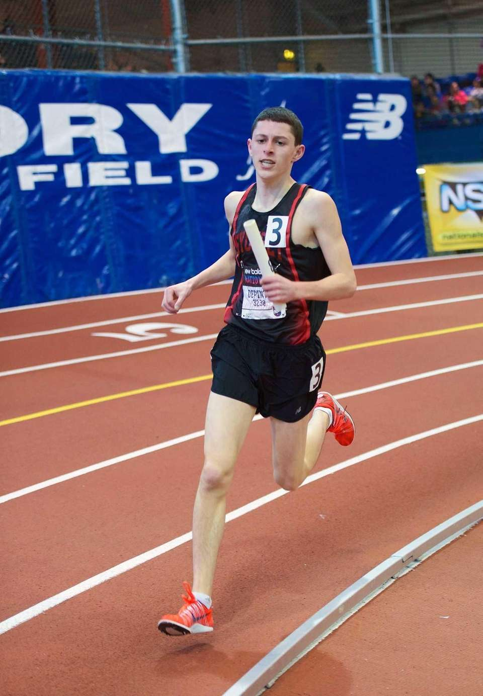 Ryan Depinto runs as part of the Syosset
