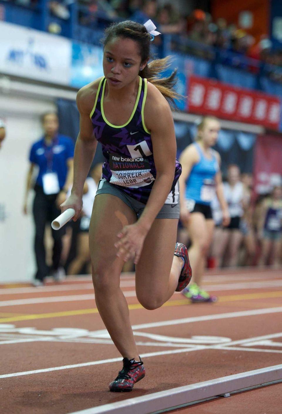 Danielle Correia runs as part of the Kellenberg