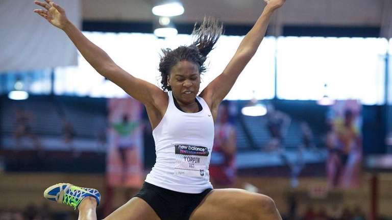 Anisa Toppin of Bay Shore competes in the