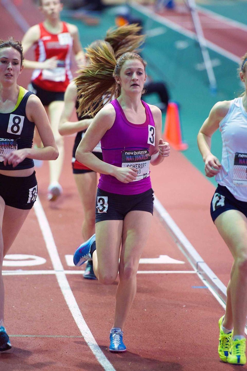Jessica Scheriff of North Babylon runs in the