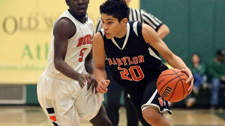 Babylon's Fernando Vazquez drives the outside as Marlboro's