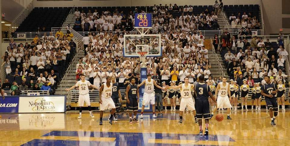 Northport defends against Baldwin with Northport fans dressed