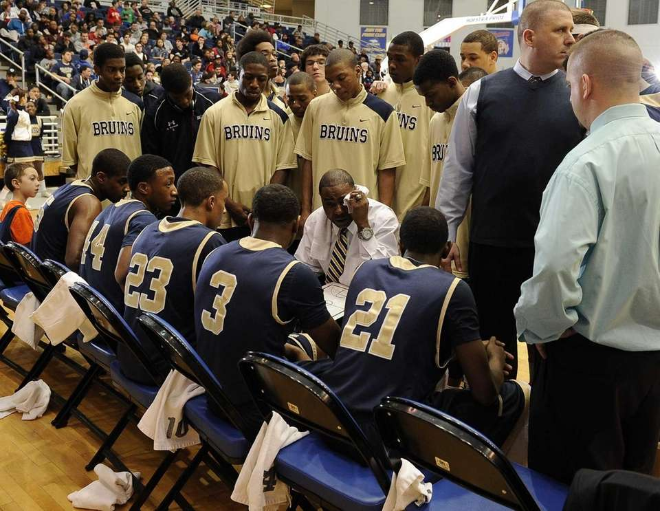 Baldwin's head coach directs his players during a