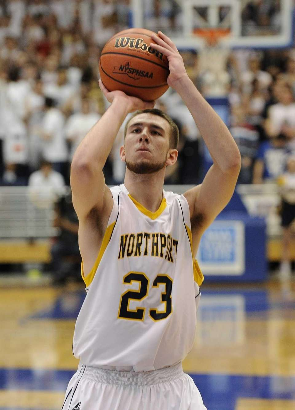 Northport's Andrew Seaman shoots a free throw against