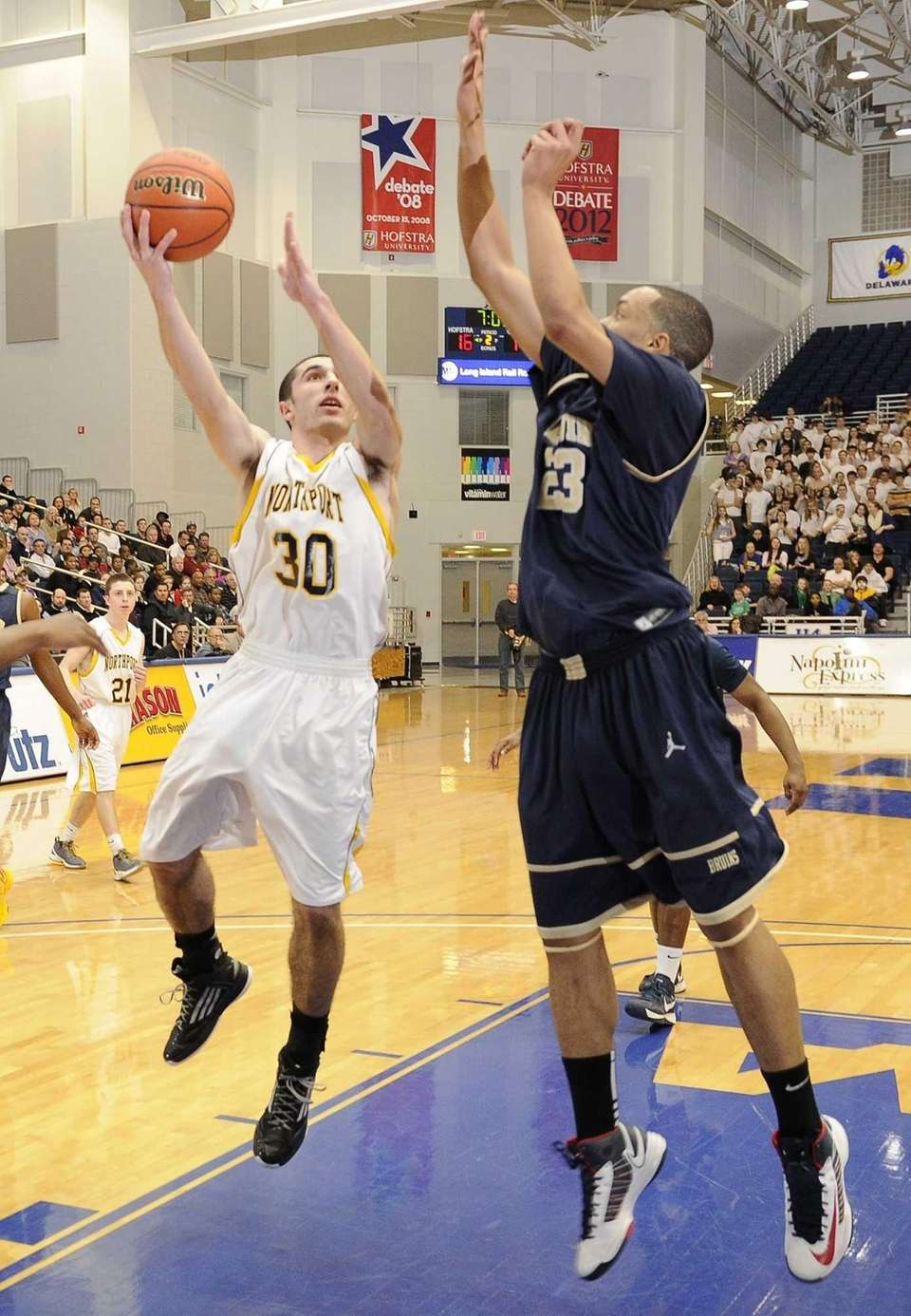 Northport's Matt Smith sinks a layup against Baldwin's
