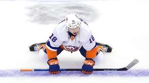 Anthony Beauvillier #18 of the New York Islanders