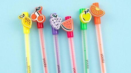 Six fruit scented gel pens; $9.99 by Yoobi